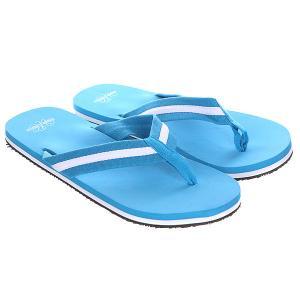 Вьетнамки  Flip Flops White/Turquoise Urban Classics. Цвет: голубой
