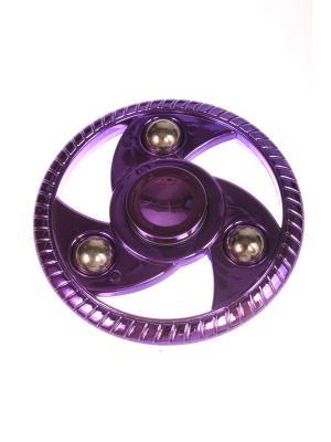 Спиннер металлик улучшенный круглый с шариками-утяжелителями, Фиолетовый Радужки. Цвет: фиолетовый