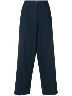 Широкие укороченные брюки Barena. Цвет: синий