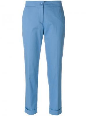 Укороченные классические брюки Etro. Цвет: синий