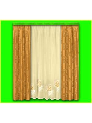 Комплект штор Haft. Цвет: кремовый