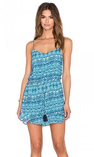 Мини платье cascade SOFIA by ViX. Цвет: синий