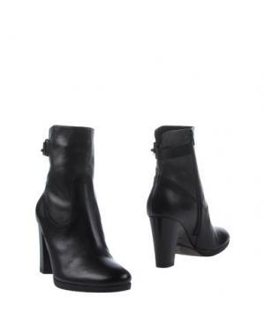 Полусапоги и высокие ботинки PROGETTO. Цвет: черный