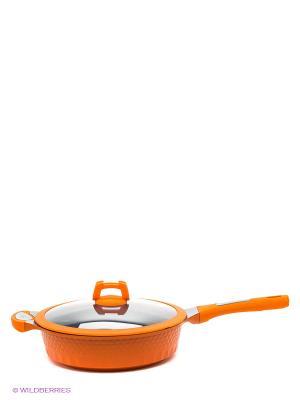 Сковорода, 28 см Winner. Цвет: оранжевый
