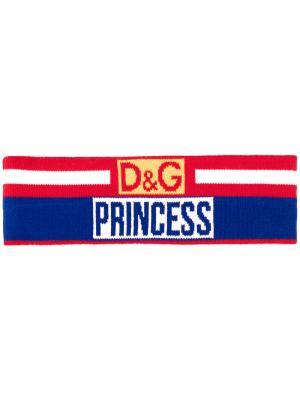 Повязка на голову Dolce & Gabbana. Цвет: многоцветный