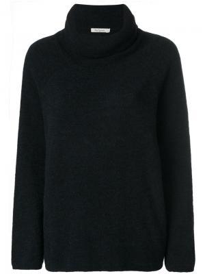 Свободный свитер с высокой горловиной Mes Demoiselles. Цвет: синий
