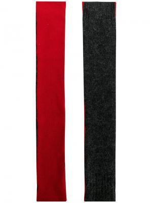 Длинные митенки Mm6 Maison Margiela. Цвет: серый