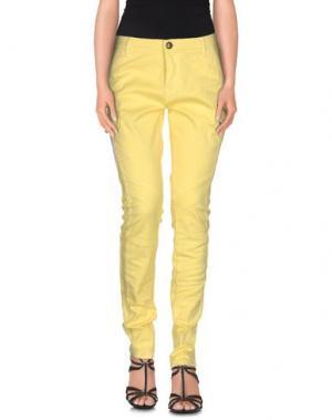 Джинсовые брюки GAI MATTIOLO JEANS. Цвет: желтый