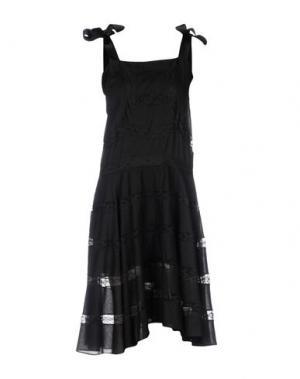 Платье до колена PHILOSOPHY DI LORENZO SERAFINI. Цвет: черный