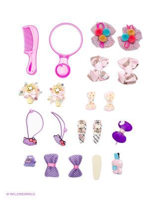Набор аксессуаров детский Bijoux Land. Цвет: розовый, желтый, белый, зеленый, голубой