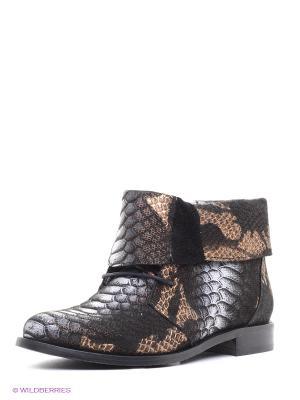 Ботинки Roccol. Цвет: черный, коричневый, белый