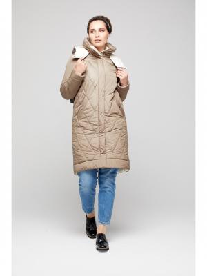 Пальто GOLD&ZISS. Цвет: хаки, молочный