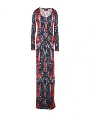 Длинное платье PHILIPP PLEIN. Цвет: красный