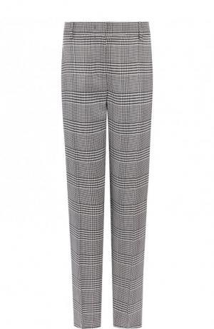 Укороченные брюки со стрелками в клетку Emilio Pucci. Цвет: черно-белый
