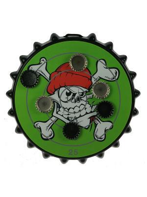 Игра-развлечение к пиву Магнитная мишень для пивных пробок Русские подарки. Цвет: зеленый, черный