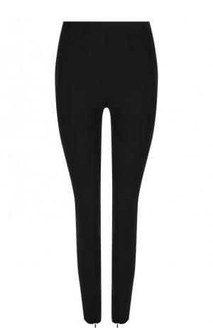 Однотонные брюки-скинни с разрезами на молниях By Malene Birger. Цвет: черный
