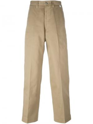 Широкие брюки Facetasm. Цвет: телесный