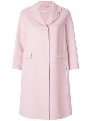 Пальто с карманами клапанами S Max Mara 'S. Цвет: розовый и фиолетовый