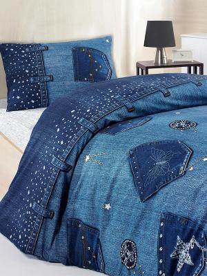 Комплект постельного белья ALTINBASAK. Цвет: синий