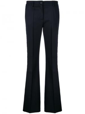 Расклешенные брюки узкого кроя P.A.R.O.S.H.. Цвет: синий