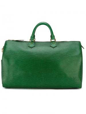Большая сумка-тоут Louis Vuitton Vintage. Цвет: зелёный
