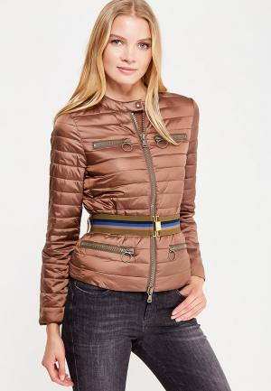 Куртка утепленная Sisley. Цвет: коричневый