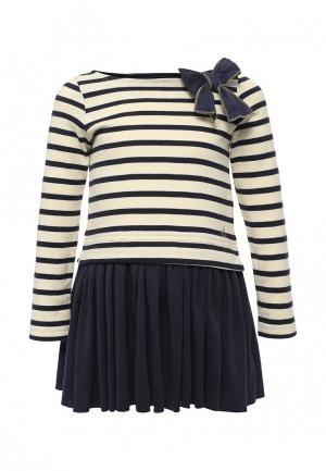 Платье Petit Bateau. Цвет: бежевый