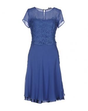 Платье до колена MARTA PALMIERI. Цвет: синий