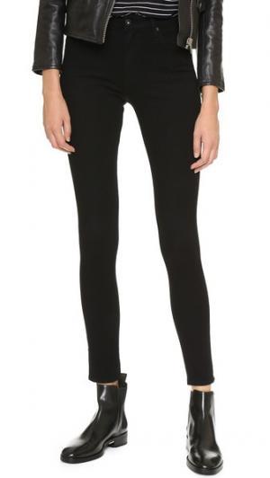 Облегающие джинсы-скинни 360 Farrah с высокой посадкой AG. Цвет: серо-коричневый
