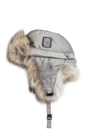 Шапка с отделкой из меха койота 152312 Arctic Bay. Цвет: серый