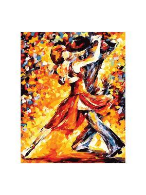 Роспись холста по номерам ТАНГО.ИМПРЕССИОНИЗМ КРЕАТТО. Цвет: желтый, красный, оранжевый