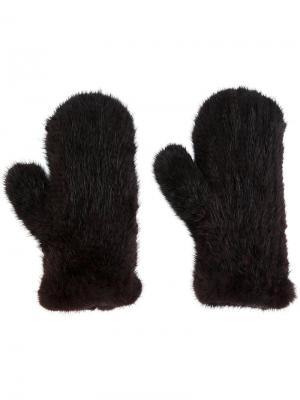 Four Queues gloves Yves Salomon. Цвет: коричневый