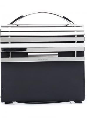 Metal flap handbag Eddie Borgo. Цвет: чёрный