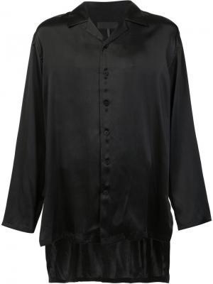Удлиненная рубашка D.Gnak. Цвет: чёрный