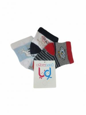 Носки детские, 3 пары PERA MAYA. Цвет: белый, серый, голубой