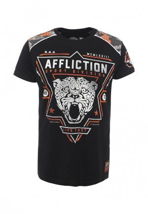 Футболка Affliction. Цвет: черный
