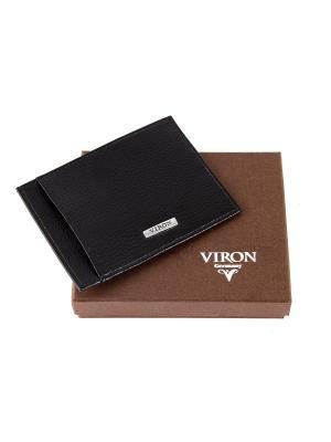 Портмоне мужское для кредитных карт Viron. Цвет: черный