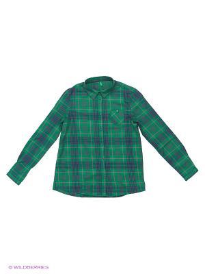 Рубашка United Colors of Benetton. Цвет: синий