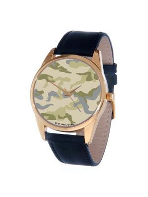 Часы Mitya Veselkov. Цвет: зеленый, бежевый