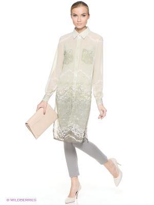 Блуза MARY MEA. Цвет: серо-зеленый