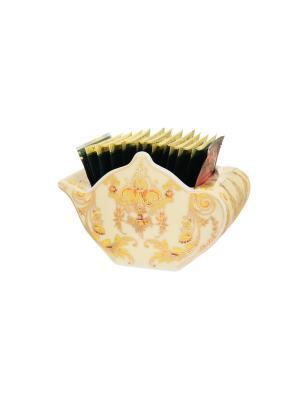 Подставка для чайных пакетиков Узор золотой Elan Gallery. Цвет: золотистый