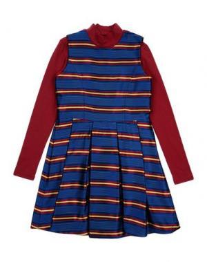 Платье PARROT. Цвет: синий
