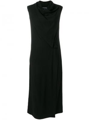 Платье с драпировкой Sena Ivan Grundahl. Цвет: чёрный