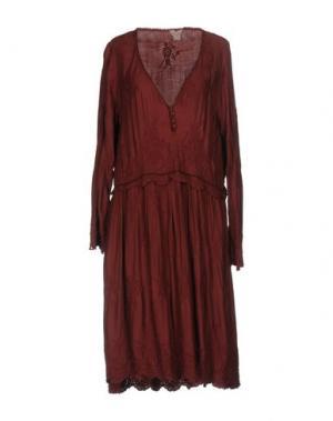 Платье до колена NOLITA. Цвет: красно-коричневый