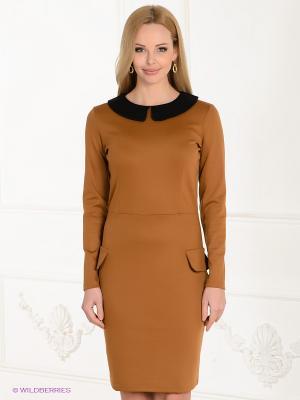 Платье Spicery. Цвет: светло-коричневый