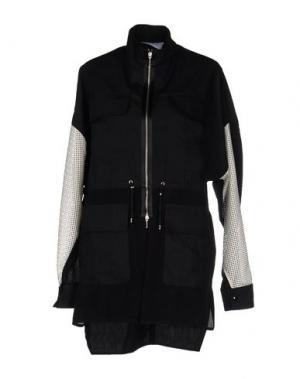 Легкое пальто PAOLO ERRICO. Цвет: черный