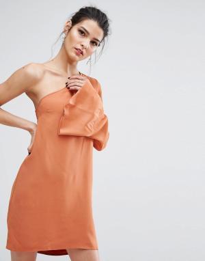 Bec & Bridge Асимметричное платье Lunetta. Цвет: коричневый
