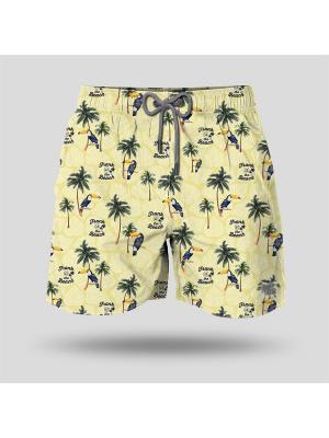 Шорты пляжные мужские JOHN FRANK. Цвет: светло-желтый