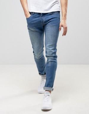 Loyalty & Faith Выбеленные зауженные джинсы and Beattie. Цвет: синий