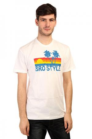 Футболка  Sunset White Bro Style. Цвет: белый